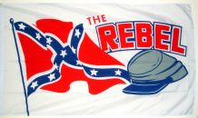 THE REBEL (CONFEDERATE) - 5 X 3 FLAG